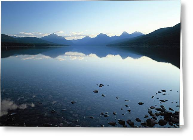 Lake Mcdonald And The Rocky Mountains Greeting Card