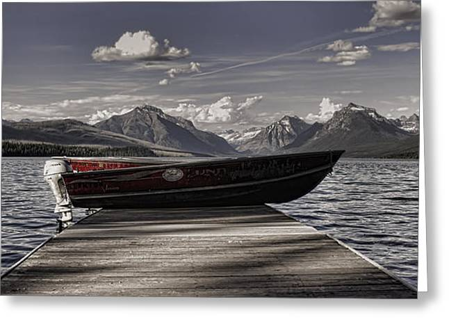 Greeting Card featuring the photograph Lake Mcdonald by Ellen Heaverlo