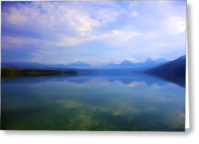 Lake Mcdonald Greeting Card by Terry Horstman