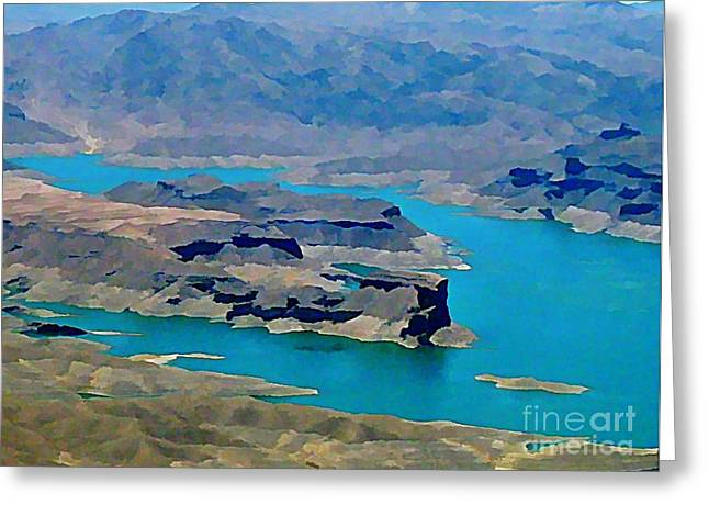 Lake Mead Aerial Shot Greeting Card by John Malone