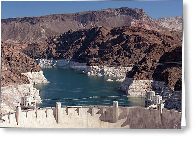 Lake Mead Dam And Hydro Plant Greeting Card by Ashley Cooper