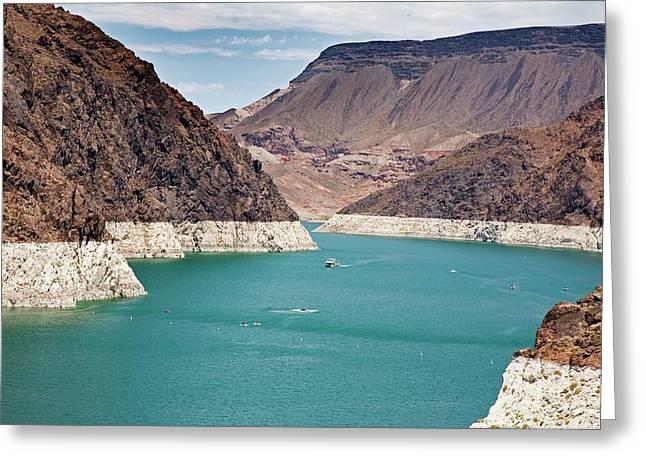 Lake Mead Reservoir Greeting Card by Jim West