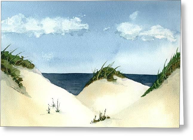 Lake Michigan Dunes Greeting Card by Lynn Babineau