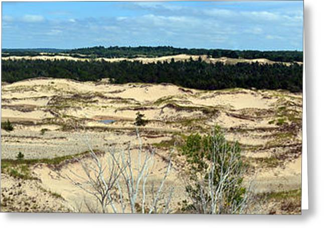 Lake Michigan Hills And Dunes Greeting Card by Michelle Calkins