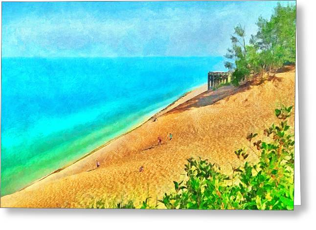 Lake Michigan Overlook On The Pierce Stocking Scenic Drive Greeting Card