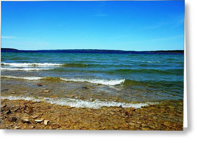 Lake Michigan Greeting Card by Tracey Griffor