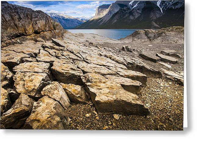 Lake Minnewanka Horizontal Greeting Card by Chris Halford