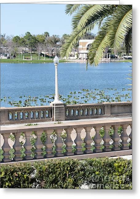 Lake Mirror Promenade Greeting Card by Carol Groenen