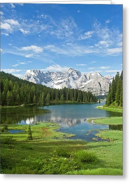 Lake Misurina Greeting Card by Bob Gibbons