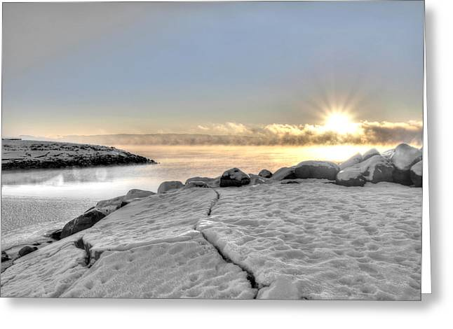 Lake Mjosa Inlet Greeting Card by Chris Shirley