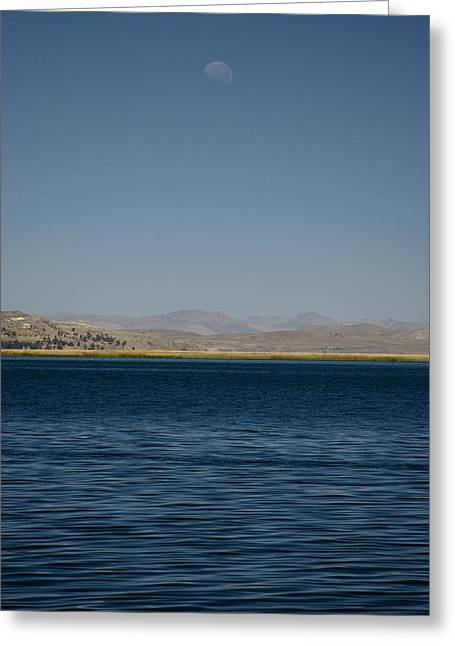 Lake Moonrise Greeting Card