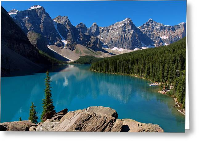Lake Morine Blue Greeting Card