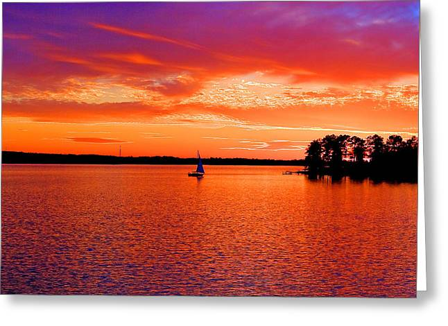 Lake Murray Sunset Greeting Card