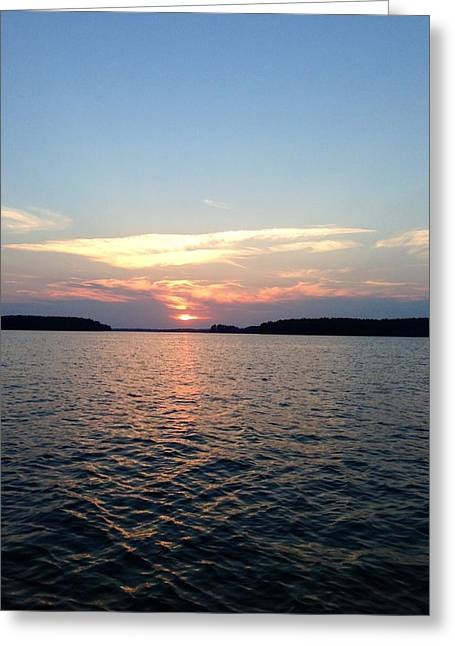 Lake Murray Sunset Greeting Card by M West