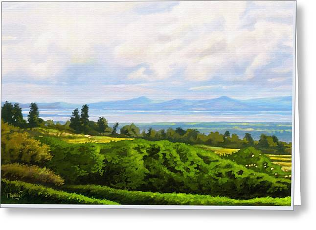 Lake Naivasha From Home Greeting Card by Anthony Mwangi