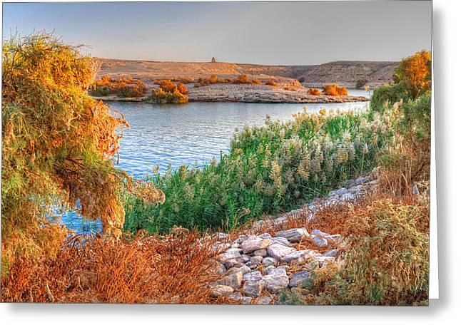 Lake Nasser Sunset Greeting Card