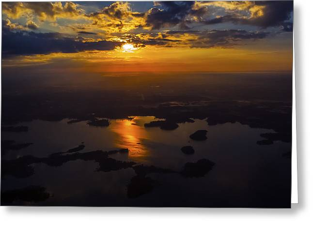 Lake Norman Sunrise Greeting Card by Greg Reed
