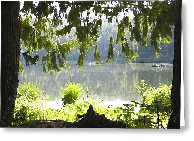Lake Of Dreams Greeting Card by Anne Mott