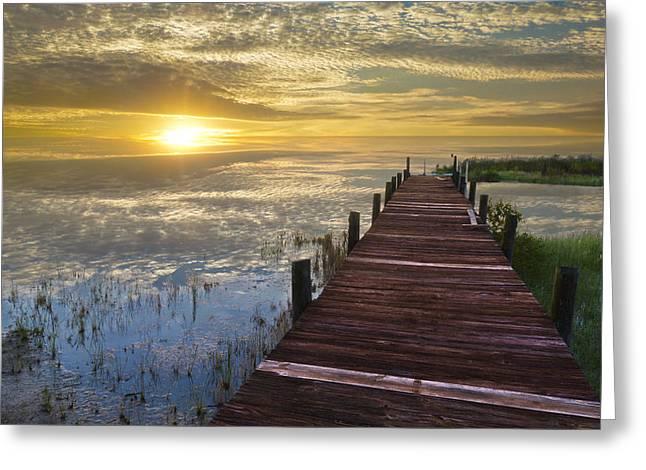 Lake Of Enchantment Greeting Card by Debra and Dave Vanderlaan
