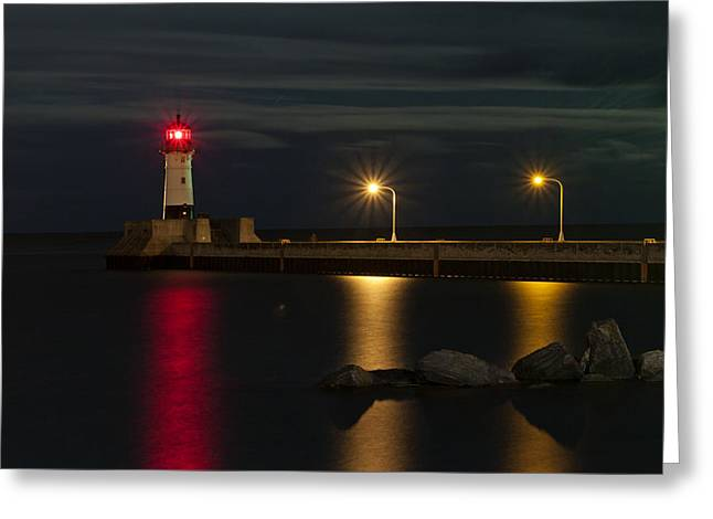 Lake Of Lights Greeting Card by Michael Murphy