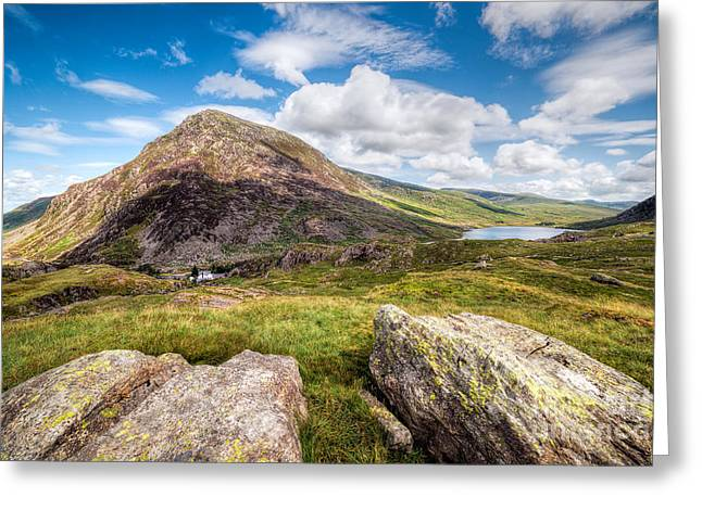 Lake Ogwen Greeting Card by Adrian Evans