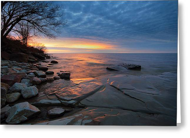 Lake Ontario At Sunset Greeting Card by Tracy Welker