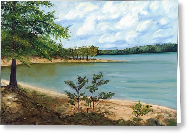 Lake Ouachita Greeting Card by Helen Eaton