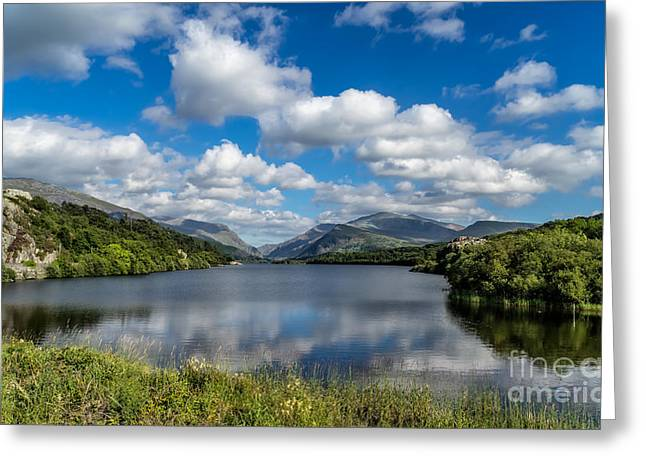 Lake Padarn Greeting Card by Adrian Evans