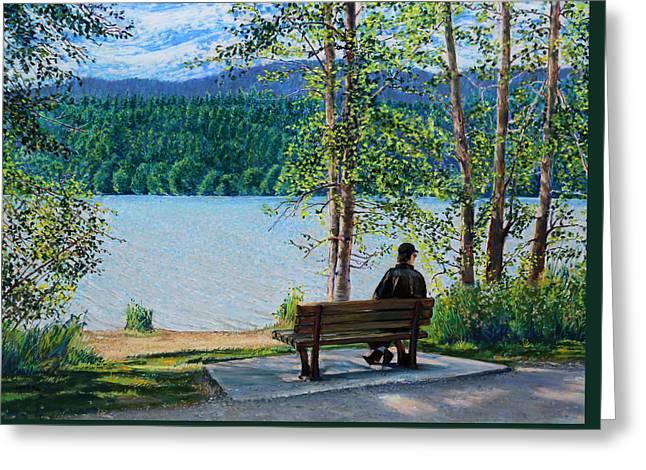 Lake Padden - Schwartz Bench Greeting Card