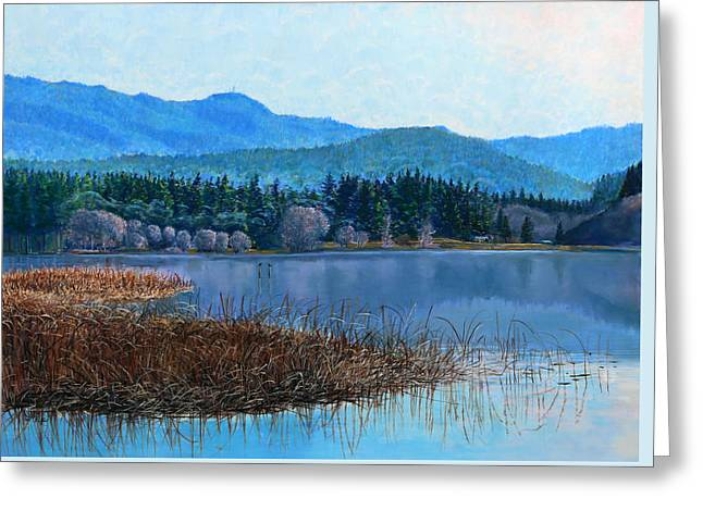 Lake Padden - View Near Gosset Bench Greeting Card by Nick Payne