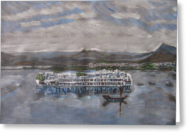 Lake Palace Greeting Card by Vikram Singh