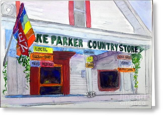 Lake Parker Country Store Greeting Card by Donna Walsh