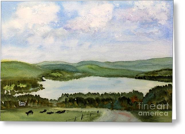 Lake Parker In Glover Greeting Card by Donna Walsh