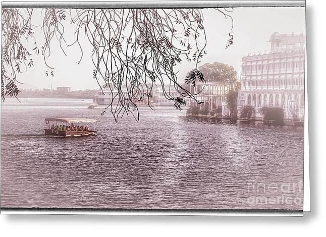 Lake Pichola In Udaipur Greeting Card by Catherine Arnas