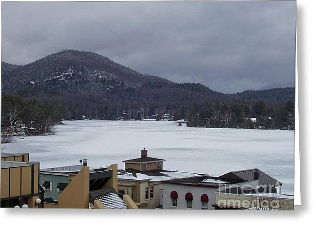 Greeting Card featuring the photograph Lake Placid Snow Storm by John Telfer