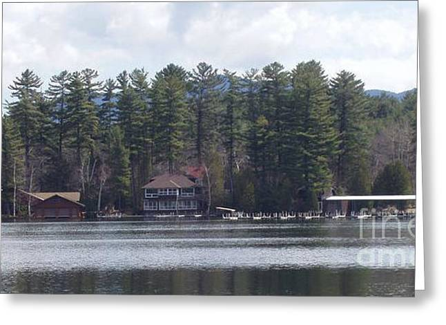 Greeting Card featuring the photograph Lake Placid Summer House by John Telfer