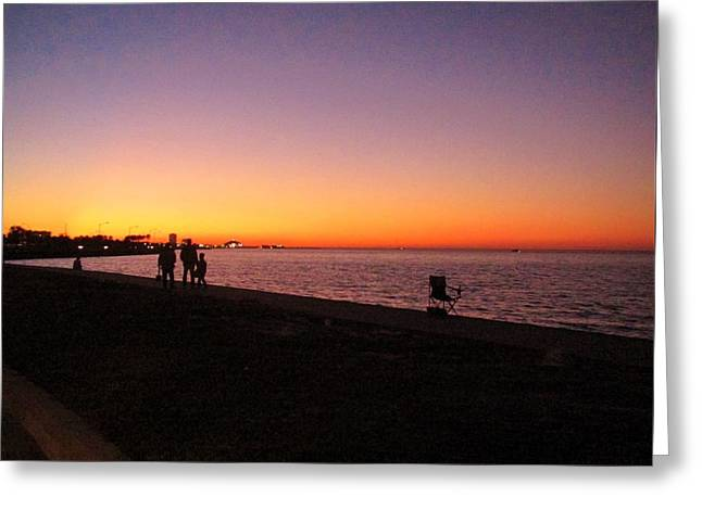 Lake Pontchartrain Sunset Greeting Card