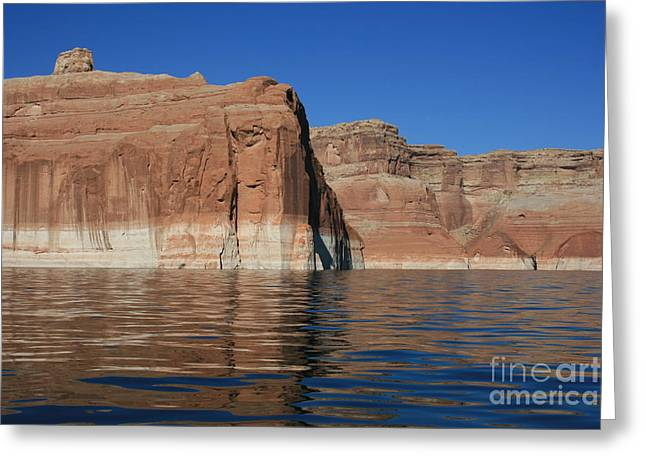 Lake Powell Cliffs Greeting Card by Marty Fancy