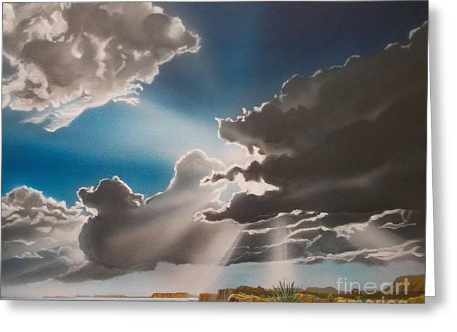 Lake Powell Clouds Greeting Card by Jerry Bokowski