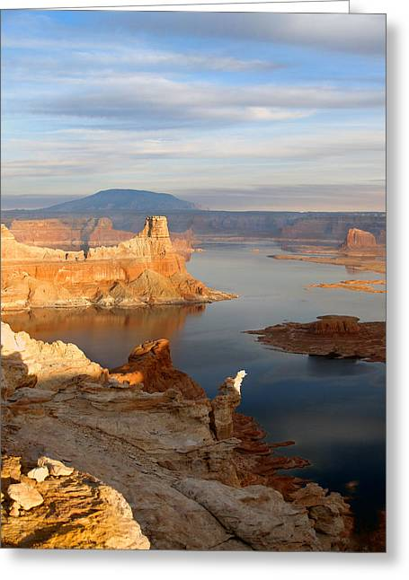 Lake Powell From Alstrum Pt 12 Greeting Card