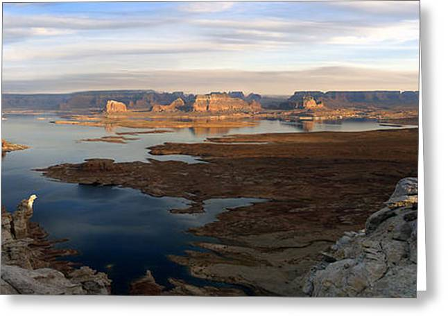 Lake Powell From Alstrum Pt Pan 2 Greeting Card