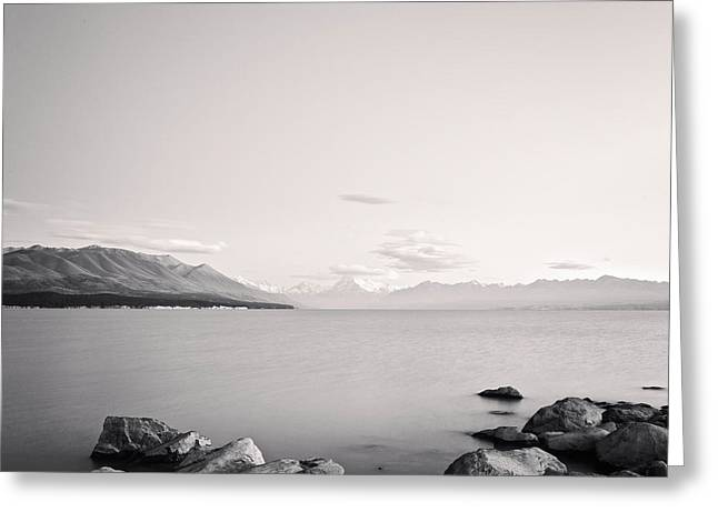 Lake Pukaki And Mount Cook New Zealand. Greeting Card by Colin and Linda McKie