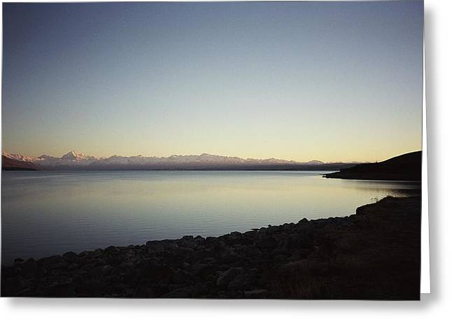 Lake Pukaki First Light Greeting Card by Peter Mooyman