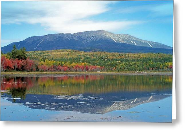 Greeting Card featuring the photograph Lake Reflection by Gene Cyr