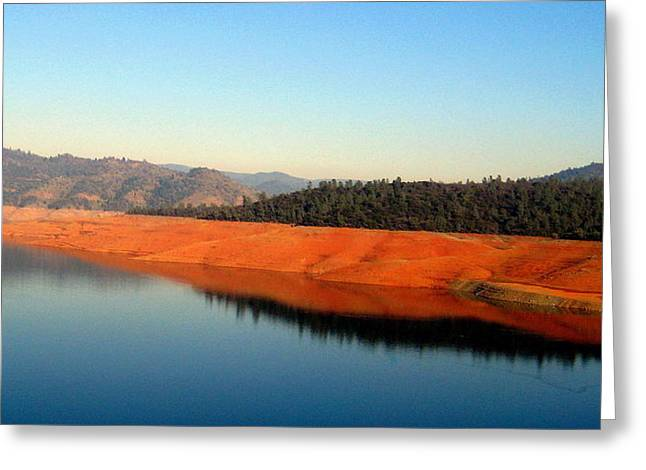 Greeting Card featuring the photograph Lake Reflections by AJ  Schibig