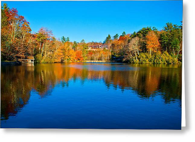 Greeting Card featuring the photograph Lake Reflections by Alex Grichenko