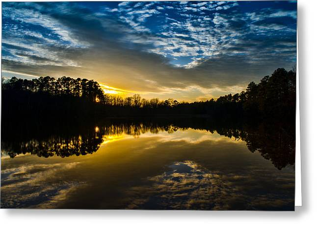 Lake Reflections Greeting Card by Brian Young