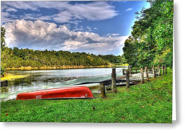 Lake Robertson Greeting Card by Todd Hostetter