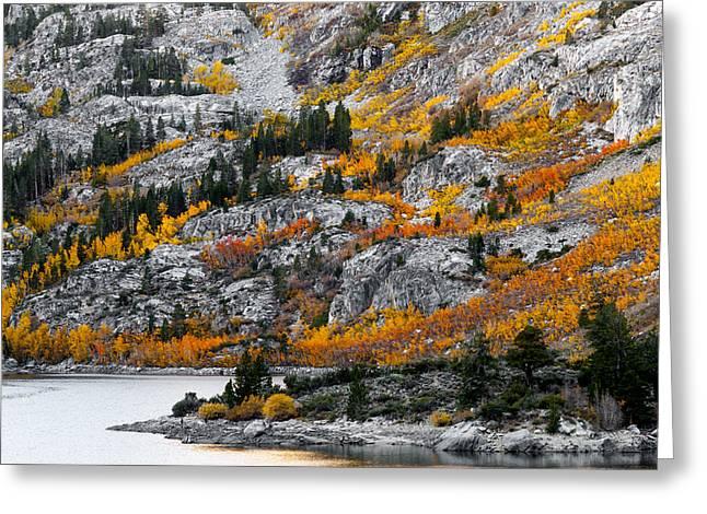 Lake Sabrina At Dawn Greeting Card by Joe Doherty