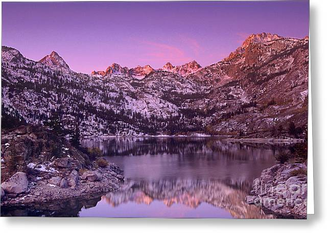 Lake Sabrina Sunrise Eastern Sierras California Greeting Card